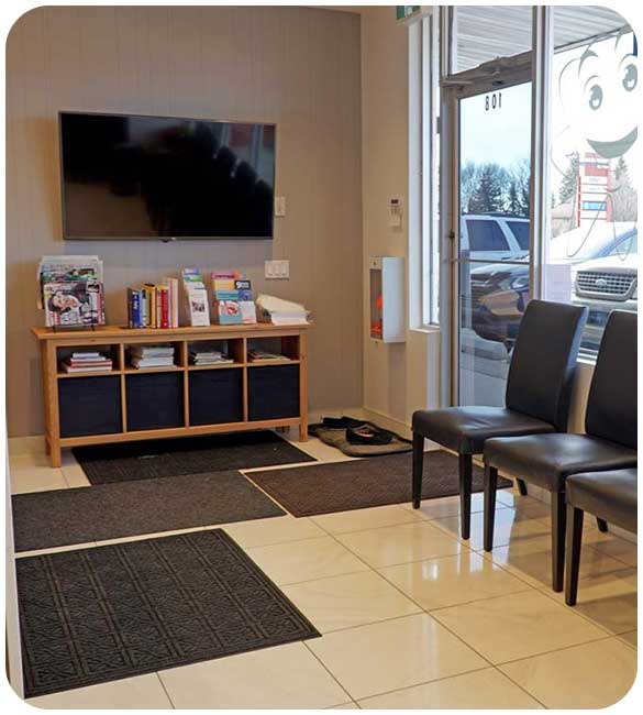 Cozy Waiting Area   North Main Family Dental   Family and General Dentist   Airdrie